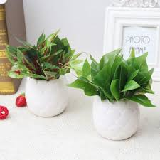Home Decorating Plants Artificial Cactus Flowers Plants In Pot Home Decor Garden Green