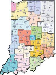 Map Indiana Dcs County List