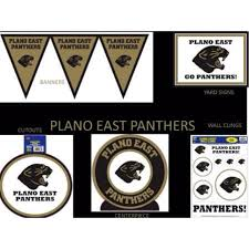 plano east high school panthers plates napkins cups balloons