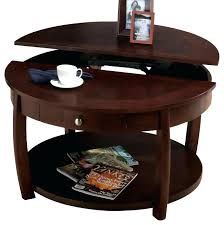 pie shaped lift top coffee table round lift top coffee table rankhero co
