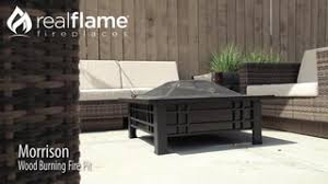 Real Flame Fire Pit - real flame morrison outdoor wood burning fire pit table