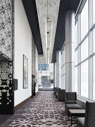 loews chicago prefunction ceiling u0026 metal art hotel design