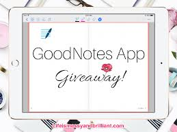 giveaway goodnotes app redemption code 2 blog shop items