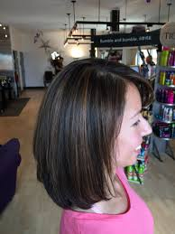 dark rich brown hair color with caramel highlights haircut layers