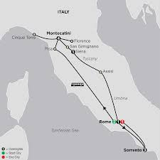 Tuscany Italy Map Tuscany Rome And Sorrento Tour Cosmos Tours