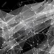 abstract mesh background with circles lines and shapes futuristic
