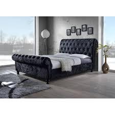 Grey Sleigh Bed King Sleigh Bed Frame Ideas Modern King Beds Design