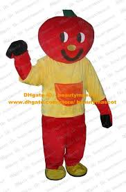 Tomato Halloween Costume Lovely Red Love Apple Mascot Costume Mascotte Tomato Wearing