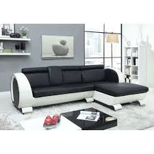 canape convertible noir et blanc canapé blanc et noir intérieur déco