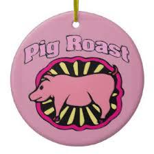 pig roast ornaments keepsake ornaments zazzle
