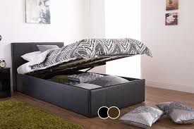 Ottoman Faux Leather Bed Faux Leather Ottoman Bed Mattress Option 3 Colours