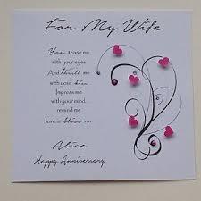 personalised handmade birthday anniversary card verse