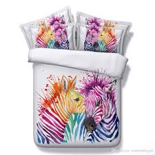 Zebra Comforter Set King Animal Printed Bedding Sets 3d Colorful Zebra Comforter Sets Queen