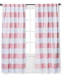Pink Striped Curtains Spectacular Deal On Twill Light Blocking Curtain Panel Pink Stripe