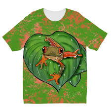 tree frog designs by amitie sublimation tshirt tote tails
