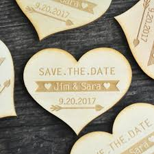 rustic save the date magnets save the date heart rustic wedding announcement save the date