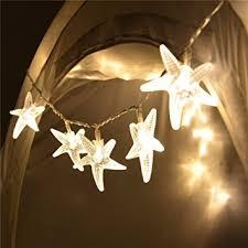 Home Decoration Lights Amazon Com Sunniemart 20 Led Warm White Starfish Battery