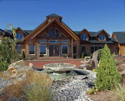 landscaping for your new timberhaven log home log home with professional landscaping features landscaping log homes log cabin homes