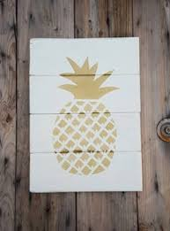 wood sign pineapple sign pineapple pallet sign reclaimed wood
