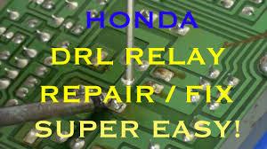 drl relay repair honda day time running lights youtube