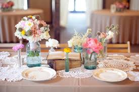 vintage centerpieces a pink vintage wedding once wed