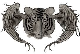 tiger with wings by amnesiagod on deviantart