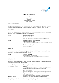 Resume Personal Statement by Personal Statement Ideas Cv