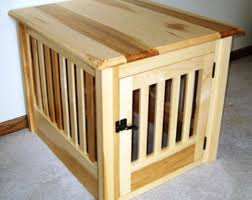 wood dog crate furniture plans house design wooden dog crate end