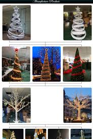 Christmas Rope Light Tree by Red And White Spiral Rope Light Christmas Tree With Led Lights