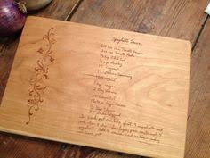 cutting board with recipe engraved your loved ones recipes engraved into a beautiful bamboo