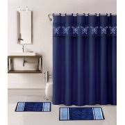 Navy Blue Bathroom Rug Set Shower Rug Set