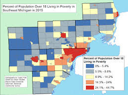 Metro Detroit Map by Poverty 2015 Semcog Mdc Over18 Jpeg Jpg