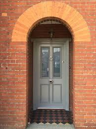 front door painted in farrow and ball u0027s green smoke front doors