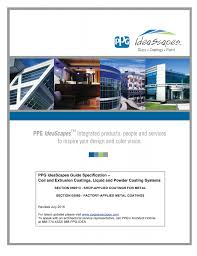 product specifications ppg architectural metal coatings