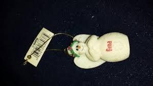 free personalized miniature ganz snowman ornament nwt