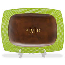 monogrammed tray wooden tray