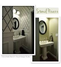 bathroom stencil ideas pin by char dewall on bathroom decor organization