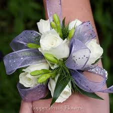 purple corsage build your own spray prom corsage from copper flowers