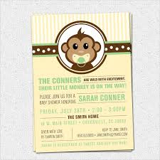 free printable monkey baby shower invitations ilcasarosf com