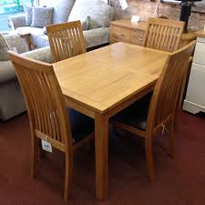 Extendable Dining Table And 4 Chairs Wharfdale Extending Oak Dining Table With 4 Chairs Flintshire
