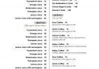 free menu templates to print professional u0026 high quality templates