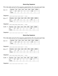 simple sequences worksheet term to term by bcooper87 teaching