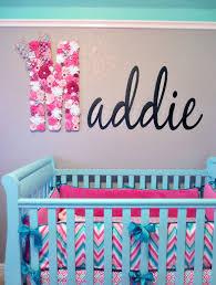 Pink And Aqua Crib Bedding Maddie U0027s Pink Aqua And Gray Chevron Nursery Project Nursery