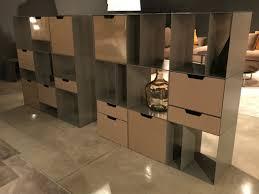 bookshelves with painted metal modules design alea alea