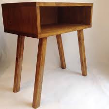 Plywood Bedside Table by Mid Century Scandinavian Side Table Retro Nightstand Mid Century