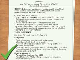 Cover Letter For Work Experience How To Write A Cover Letter For A Receptionist Job 12 Steps