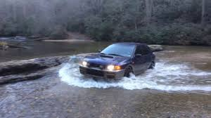 lifted subaru outback lifted subaru outback sport earls ford water crossing in clayton