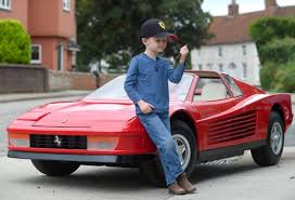 classic ferrari testarossa 75k petrol powered toy ferrari car for really rich children to