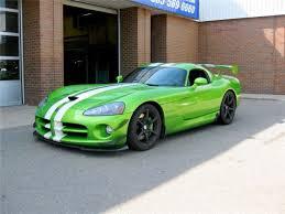 dodge viper 2008 for sale 2008 dodge viper factory aero coupe 1of1 snake skin green w white