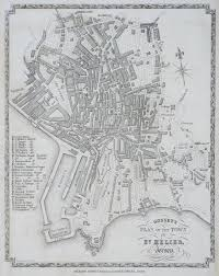 Channel Islands Map Antique Prints Of St Helier Channel Islands
